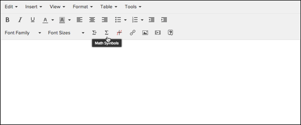 Using The Text Editor Insert Math Symbols And Equations Engrade Pro