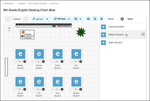 create seating chart engrade pro